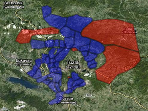Općina Soli - Google Earth