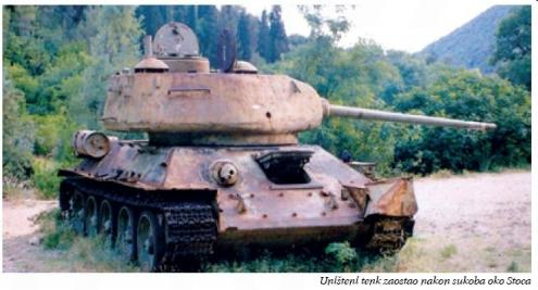 Uništeni tenk kod Stoca