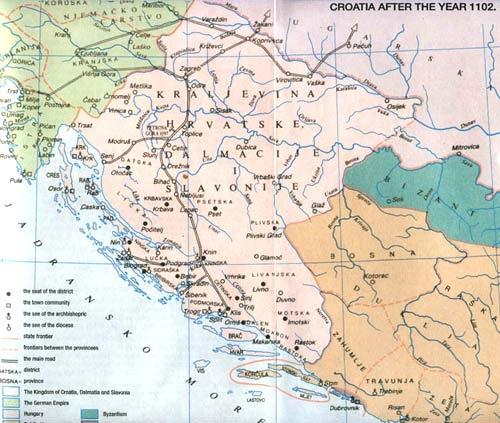 Hrvatska i Bosna pocetkom 12-og stoljeca
