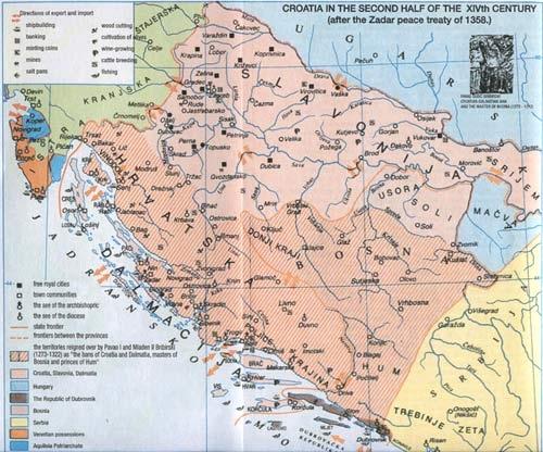 Croatia in mid 14th century