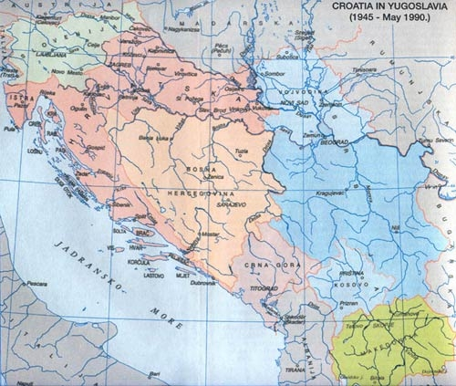 Croatia and Bosnia in Yugoslavia
