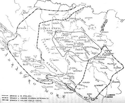 Zemljovid 19. Sirenje Bosne (Prema T. Macanu \\\\\\
