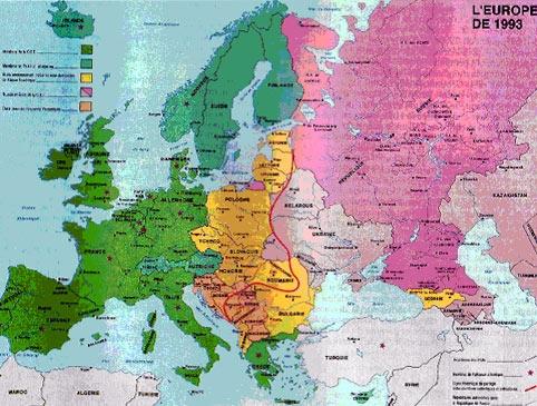 """Karta 1. iz knjige """"Atlas Strategique. Geopolitique des nouveaux rapports de forces dans le monde.\"""