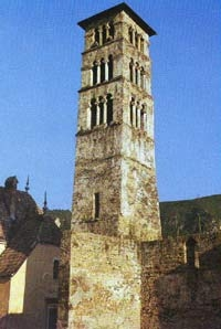 Jajce, Tower on the Church of St. Luke, 14-15th century, a rare example of Romanesque architecture in Bosnia. The only original medieval Church tower on the Balkan peninsula.