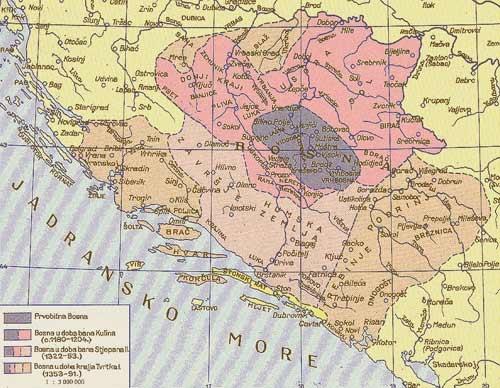Rast prvotne Bosne, koja je tijekom vremena uključivala sve veće susjedne teritorije