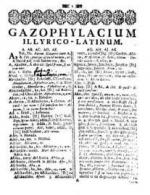 Ivan Belostenec: Gazophylacium, 1740