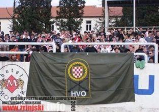Zastava HVO-a na tribini