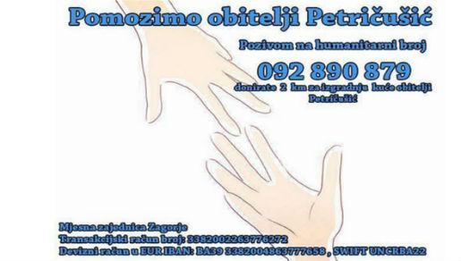 Humanitarna akcija za pomoć obitelji Petričušić iz Zagorja kod Posušja