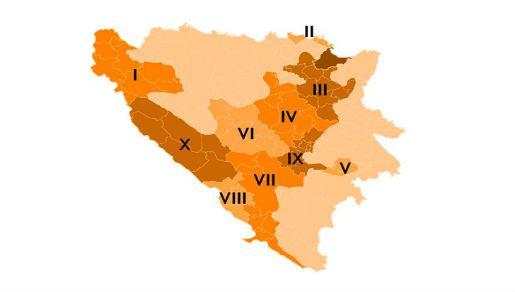 Federacija BiH - županije